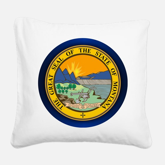 Montana Seal Square Canvas Pillow