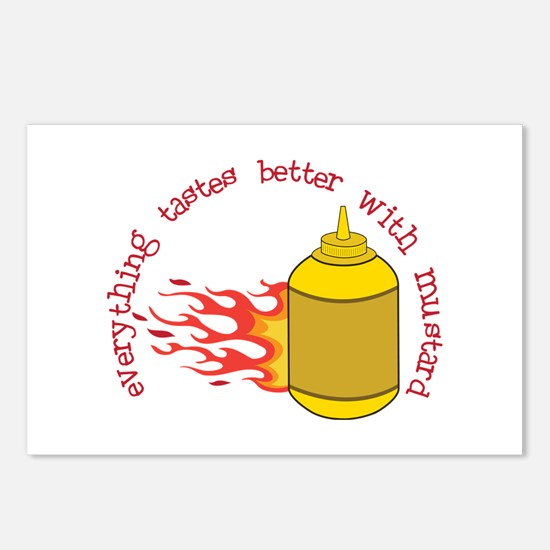 Better With Mustard Postcards (Package of 8)