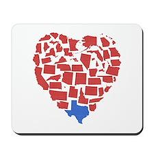 Texas Heart Mousepad