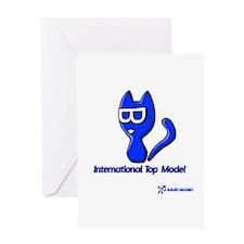 Minka Cat: Top Model Greeting Card