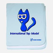 Minka Cat: Top Model baby blanket