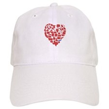 Texas Heart Baseball Cap
