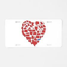 Texas Heart Aluminum License Plate