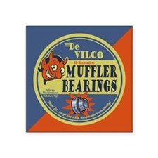 "DeVilco Muffler Bearings Square Sticker 3"" x 3"""