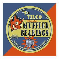 "DeVilco Muffler Bearings Square Car Magnet 3"" x 3"""