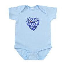 Virginia Heart Infant Bodysuit