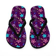 Midnight Stars Pattern Flip Flops