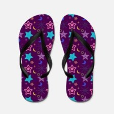 Midnight Stars Pattern Flip Flops