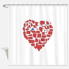 Virginia Heart Shower Curtain