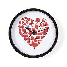 Virginia Heart Wall Clock