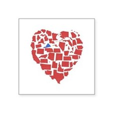 "Virginia Heart Square Sticker 3"" x 3"""