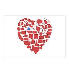Virginia Heart Postcards (Package of 8)