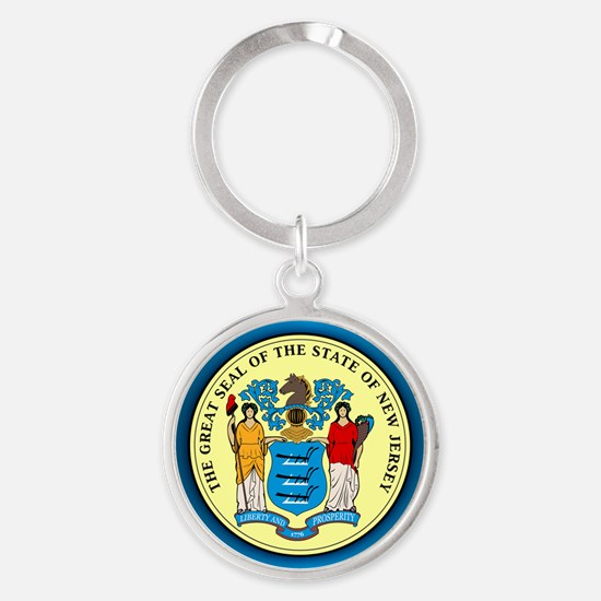 New Jersey Seal Keychains