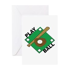 Play Ball Greeting Cards