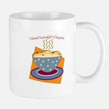Oatmeal The Breakfast Of Champions! Mugs