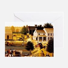 The Residence of David Twining Greeting Card