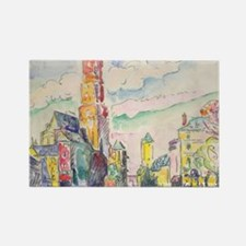 Rodez by Paul Signac Rectangle Magnet