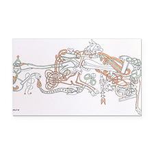 Celtic Ornament Animals Rectangle Car Magnet
