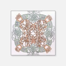 """Celtic """"O"""" Design Square Sticker 3"""" x 3"""""""