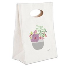 blossom Canvas Lunch Tote
