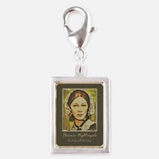 The Lady With Lamp Silver Portrait Charm Charms