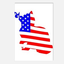 flag, cat and butterfly Postcards (Package of 8)