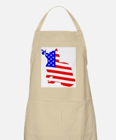 flag, cat and butterfly Apron