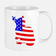 flag, cat and butterfly Mugs