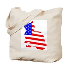 flag, cat and butterfly Tote Bag