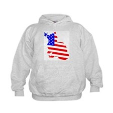 flag, cat and butterfly Hoodie