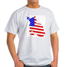 flag, cat and butterfly T-Shirt