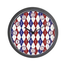 Americana Argyle Wall Clock