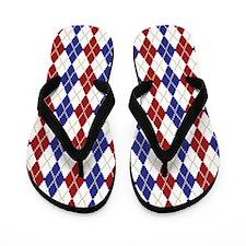 Americana Argyle Flip Flops