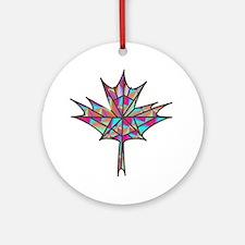 Maple Leaf Mosaic Ornament (Round)