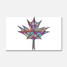Maple Leaf Mosaic Car Magnet 20 x 12