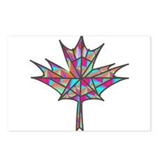 Maple Leaf Mosaic Postcards (Package of 8)