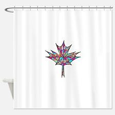 Maple Leaf Mosaic Shower Curtain