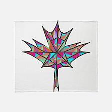 Maple Leaf Mosaic Throw Blanket