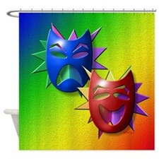 Comedy-Drama Masks Shower Curtain
