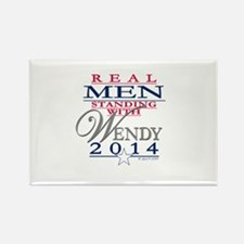 Real Men Standing with Wendy Rectangle Magnet