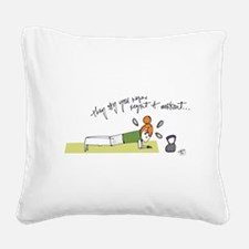 Commit to Fit Square Canvas Pillow