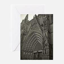La Catedral Barcelona Greeting Card
