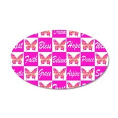 PINK BUTTERFLY Wall Decal