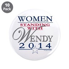 "Women standing with Wendy 3.5"" Button (10 pack)"