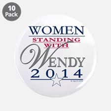 """Women standing with Wendy 3.5"""" Button (10 pack)"""