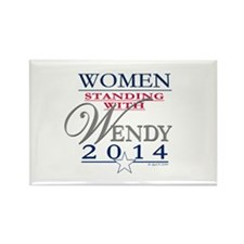 Women standing with Wendy Rectangle Magnet