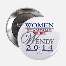 """Women standing with Wendy 2.25"""" Button"""