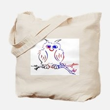 Red white and blue owl Tote Bag