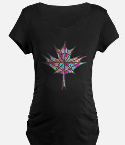Maple Leaf Mosaic Maternity T-Shirt
