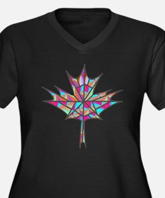 Maple Leaf Mosaic Plus Size T-Shirt
